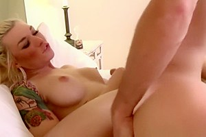 Tgirl beauty blows cock then pounds ass